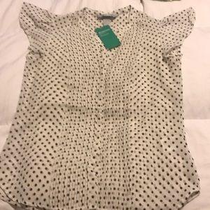 H&M black polka dot blouse